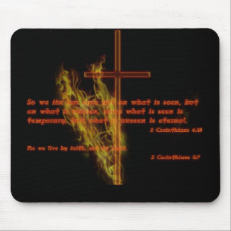 Religious Style Black Mouse Pad