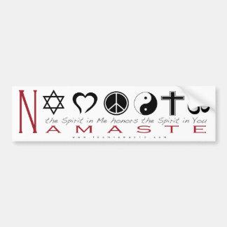 Religious Symbol Namaste Car Bumper Sticker