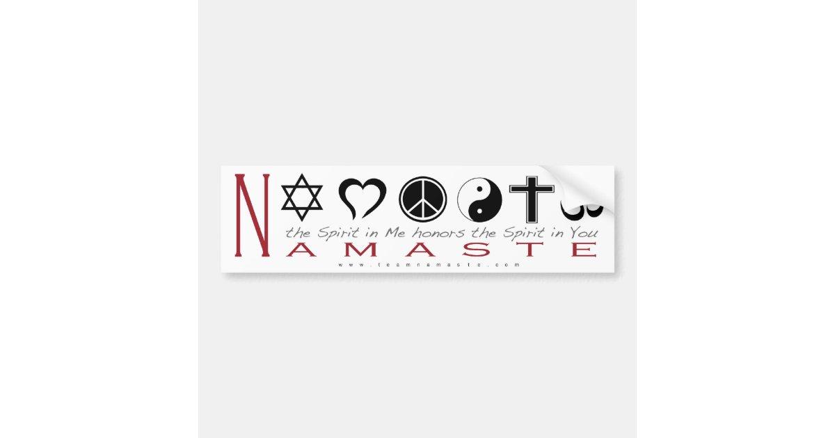 Religious Symbol Namaste Bumper Sticker Zazzle