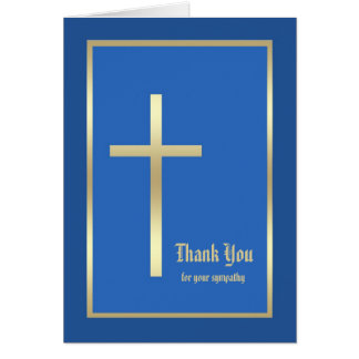 Religious Sympathy Thank You Card  - Blue