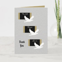 Religious Sympathy Thank You Card - Doves