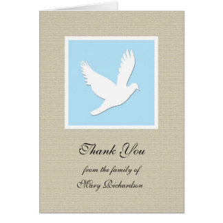 Religious Sympathy Thank You Note Card - Dove