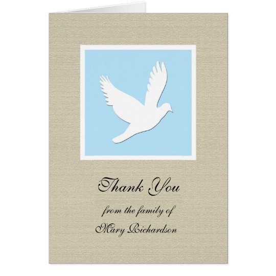 Religious Sympathy Thank You Note Card Dove – Sympathy Thank You Notes