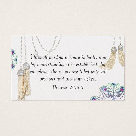 Religious Tassel Curtain Card Design