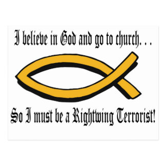 Religious Terrorist Postcard