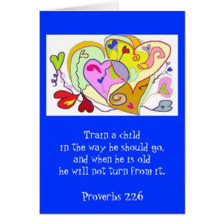 Religious Training Card