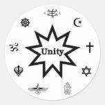 Religious Unity Decal Round Sticker