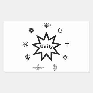 Religious Unity Rectangular Stickers