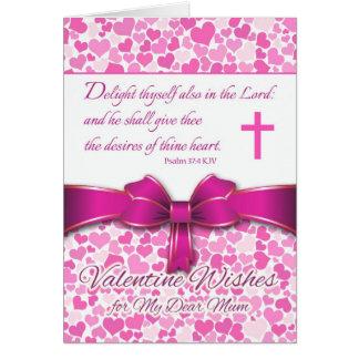 Religious Valentine for Mum, Psalm 37:4 Card