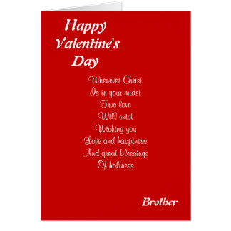 Religious valentine's day brother greeting card