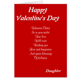 Religious valentine's day daughter card