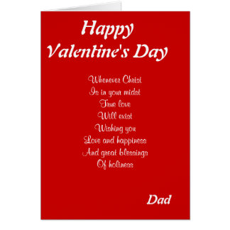 Religious valentine's day father greeting card