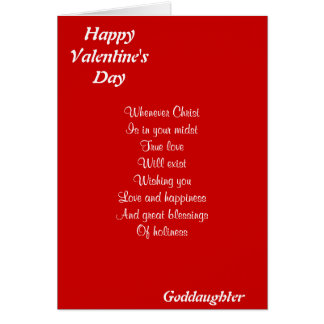 Religious valentine's day goddaughter greeting card