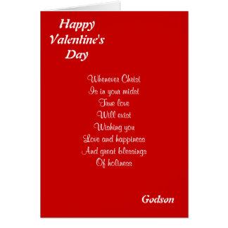 Religious valentine's day godson greeting card