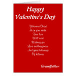 Religious valentine's day grandfather greeting card
