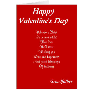 religious valentines day grandfather card