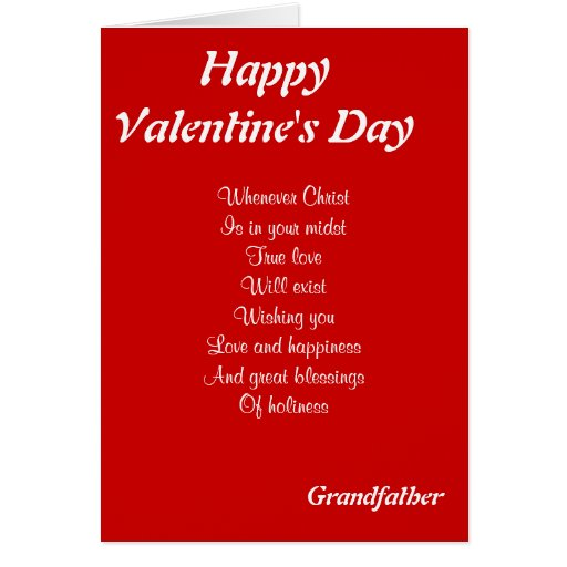 Religious valentine's day grandfather card