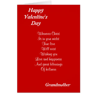 Religious valentine's day grandmother greeting card