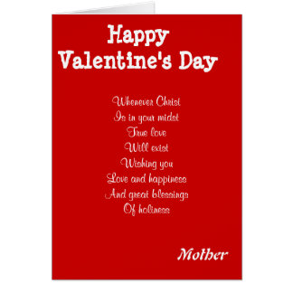 Religious valentine's day mother greeting card