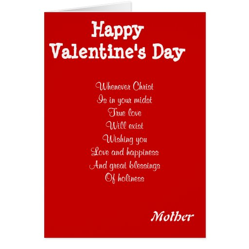 Religious valentine's day mother greeting card   Zazzle