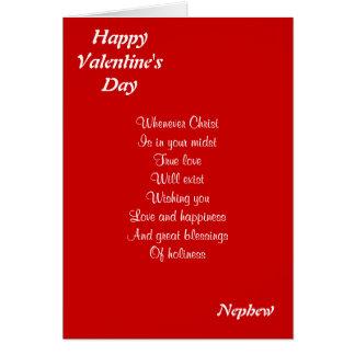 Religious valentine's day nephew greeting card