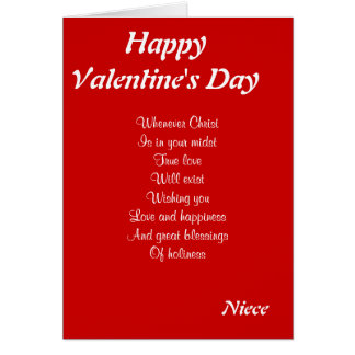 Religious valentine's day niece greeting card
