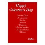 Religious valentine's day sister card