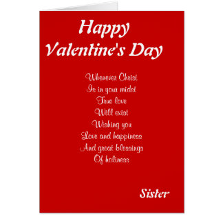 Religious valentine's day sister greeting card