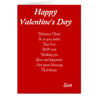 Religious valentine's day son greeting card