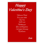 Religious valentine's day son cards