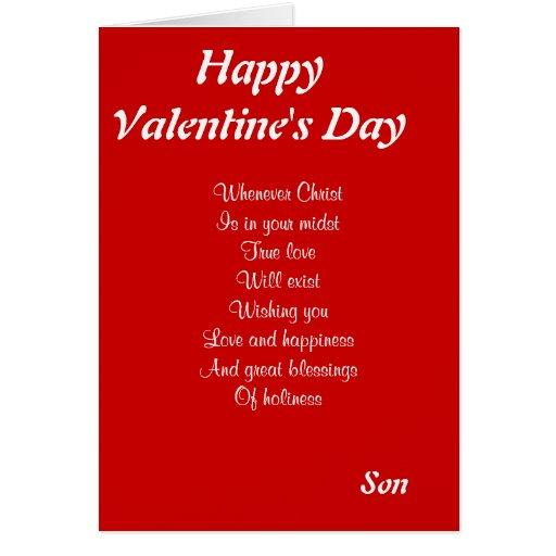 Religious Valentine S Day Son Cards Zazzle