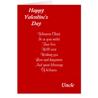 Religious valentine's day uncle greeting card