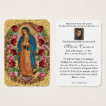 Religious Virgin Mary Guadalupe Catholic Funeral