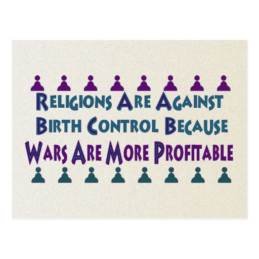 Religious Wars Post Card