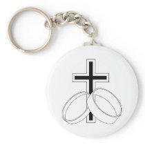 Religious Wedding Invitation Keychain