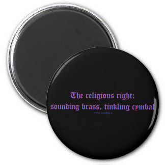 ReligRightBrassCymbal 2 Inch Round Magnet