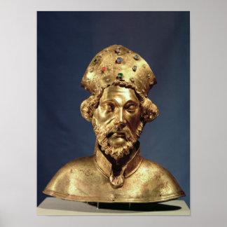 Reliquary bust of St. John Cassian Poster