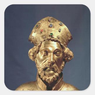 Reliquary bust of St. John Cassian Square Sticker