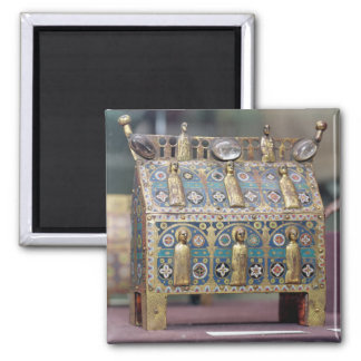 Reliquary Chasse, Limoges, c.1200-50 2 Inch Square Magnet