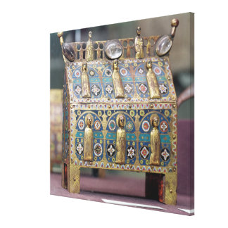 Reliquary Chasse, Limoges, c.1200-50 Canvas Print