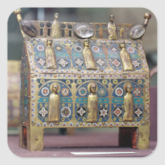 Reliquary Chasse, Limoges, c.1200-50 Square Sticker