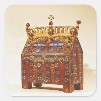 Reliquary chest, 12th-13th century square sticker