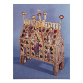 Reliquary chest in the form of a house, Limousin Poster