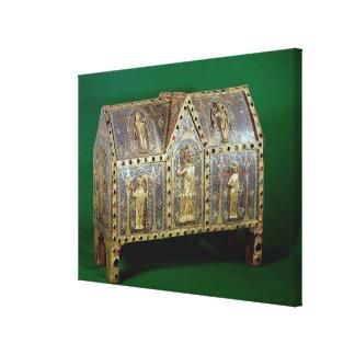 Reliquary chest of St. Calminius, Limoges Canvas Print