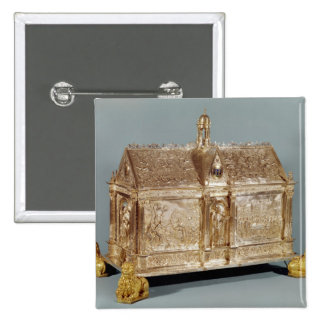 Reliquary chest of St. Macairius  of Ghent, 1616 Pinback Button