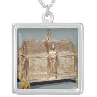 Reliquary chest of St. Macairius  of Ghent, 1616 Silver Plated Necklace