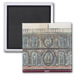 Reliquary chest of St. Viance, Limousin School 2 Inch Square Magnet