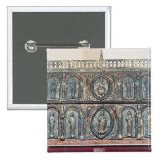 Reliquary chest of St. Viance, Limousin School Button