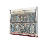 Reliquary chest of St. Viance, Limousin School Canvas Print