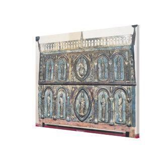 Reliquary chest of St. Viance, Limousin School Canvas Print